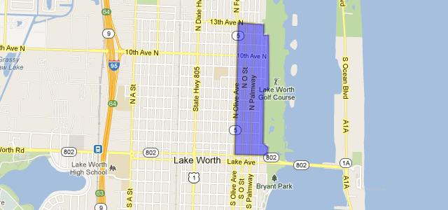 Lake Worth Florida Map.Parrot Cove Neighborhood